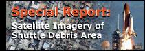 Satellite Imagery of Shuttle Debris Area